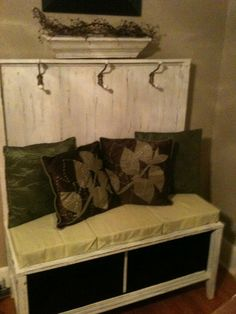Old TV Stand--convert into new rustic bench!