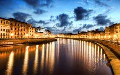 Noite de Pisa, Itália #roadtrip