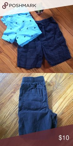 ☘️EUC☘️ Boys Charcoal Grey Shorts EUC, boys charcoal grey shorts. Please note images make the shirts appear blue but they are CHARCOAL GREY. Drawstring with elastic waist and pockets on front/back. Shirt is not included, I am not selling as my son still wears it. I ship next day AND am open to custom bundles! Circo Bottoms Shorts