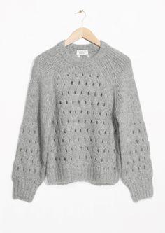 & Other Stories   Zig Zag Eyelet Sweater