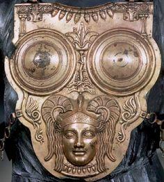 Carthaginian brass breastplate.
