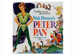 The Peter Pan Walt Disney 1953 Movie Poster Image by nukes on Etsy, $1.00