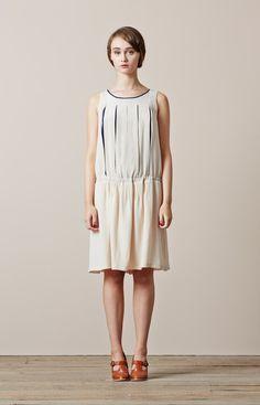 Colenimo   Natalie Silk Crepe Dress – Almond <br>- was £335.00 -