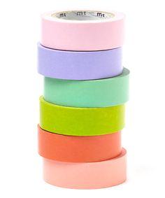 Rainbow Pastels Washi Tape Set - so many uses, so many happy colours!