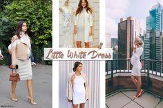 Pregnancy style TIPS and INSPO >> LWD   Maikshine blog   Consejos de estilo e inspiración para embarazadas >> vestido blanco corto