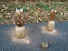 Spray painted pineapples