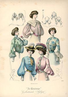 [De Gracieuse] Elegante en phantasieblouses voor jonggehuwde dames en jonge meisjes (August 1902)