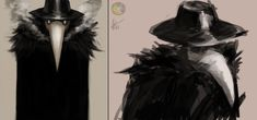 Plague Doctor sketches by on DeviantArt Plauge Doctor, Doctor Coat, Plague Mask, Bird Masks, Lovely Creatures, Animal Sketches, Dungeons And Dragons, Character Design, Doctors