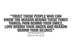 Imam Ali quotes -  trust those people..