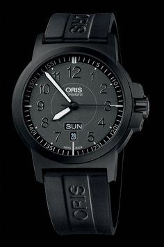 01 735 7641 5 22 - Oris Advanced, Day Date - Oris - Aviation - Collection - Oris - Purely mechanical Swiss watches. Luxury Watches, Rolex Watches, Watches For Men, Black Watches, Wrist Watches, Bracelet Cuir, Mechanical Watch, Watch Sale, Automatic Watch