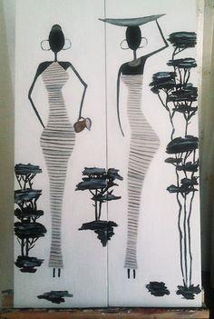 África. Acrílico sobre lienzo. Dimensiones: 70x40cm Precio: 100€ Dos piezas. Consulte nuestra web para más información.