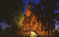 """Pictured is a stave church located at Heddal in Notodden municipality,  Norway. The Lutheran Church in Norway is no longer the state-sponsored religion.   (http://digitaljournal.com/article/324906)  Though 79 per cent of Norwegians are Lutherans, """"only about 20 percent make religion a large part of their lives,"""" and only 2 per cent of them attend services in a stave church. 72 per cent of Norway's population do not believe in a personal God."""