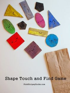 Shape Touch and Find Game:  A great way to teach shapes and math to little kids! #preschool #efl #education (repinned by Super Simple Songs)