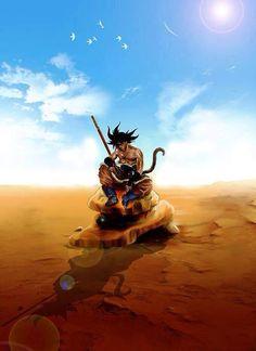 Dragon Ball Z - Goku As vezes de tanto se esforça , agente só queria ficar sozinho , as vezes a solidão é necessidade