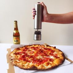 We had to have pizza for National Junk Food Day! And we spiced it up with an Epare Pepper Mill :) You can enter to win a pepper mill at http://www.allfreeslowcookerrecipes.com/sweeps/Epare-Pepper-Mill-Giveaway
