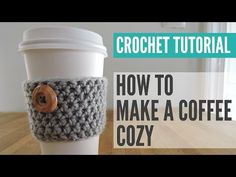 Crochet Coffee Cozy Pattern - Just Be Crafty