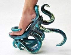 Octopus-Inspired Stilettos - These Unusual High Heels Feature Intricate Octopus . - Octopus-Inspired Stilettos – These Unusual High Heels Feature Intricate Octopus Tentacles (GALLERY) Source by - Funky Shoes, Cute Shoes, Me Too Shoes, Weird Shoes, Awesome Shoes, Trendy Shoes, Stilettos, Crazy Heels, Shoe Boots