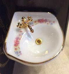 Waschbecken-Miniatur-Reutter-Porzellan