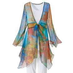 Watercolor Tunic - New Age, Spiritual Gifts, Yoga, Wicca, Gothic, Reiki, Celtic, Crystal, Tarot at Pyramid Collection