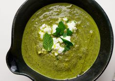 ottolenghi's herb, chard, and feta soup