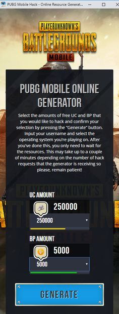 New PUBG Mobile hack is finally here and its working on both iOS and Android platforms. This generator is free and its really easy to use! Mobile Generator, Ios, Point Hacks, Gaming Tips, Android Hacks, Test Card, Hack Online, Mobile Game, Free Games