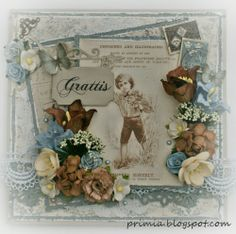 vintage card with papers from Pion design primia.blogspot.com