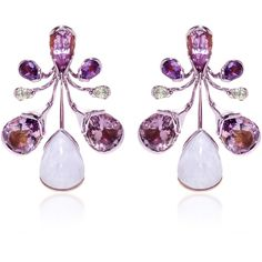 Fernando Jorge M'O Exclusive: Orchidea Earrings (609.706.540 IDR) ❤ liked on Polyvore featuring jewelry, earrings, purple, stone earrings, fernando jorge, purple jewelry, purple earrings and earring jewelry