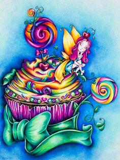Cupcake Art Print 8.5 x 11 by AshleysEccentricArt on Etsy
