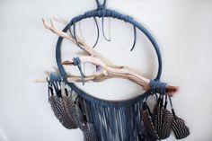 Driftwood Dreamcatcher Petrel  10 large dark gray by BartonHollow