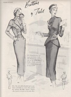 I warned you.I have piles of these things! It seems that everyone is enjoying the opportunity to see the styles that I have been abl. Fashion Days, 1940s Fashion, Vintage Fashion, Vintage Dress Patterns, Vintage Dresses, Vintage Outfits, Patron Vintage, Retro Mode, Morning Inspiration