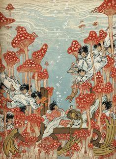 "Little Nemo Tribute Book ""Dream Another Dream"" with illustration by Yuko Shimizu. Published by Locust Moon Press Pretty Art, Cute Art, Art Inspo, Art Hippie, Bel Art, Art Du Collage, Arte Peculiar, Art Mignon, Arte Sketchbook"