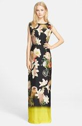 Ted Baker London 'Opulent Bloom' Print Maxi Dress