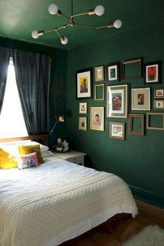 This Forest Green Bedroom Plays Perfectly With The Balance Of Colour