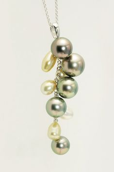 南洋真珠デザインペンダント Pearl Design, Pearl Necklace, Pearls, Pendant, Jewelry, Fashion, String Of Pearls, Moda, Jewels