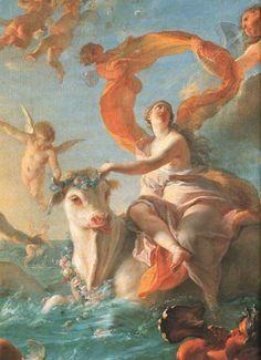 Noël-Nicolas Coypel, The Abduction of Europa, 1726-1727