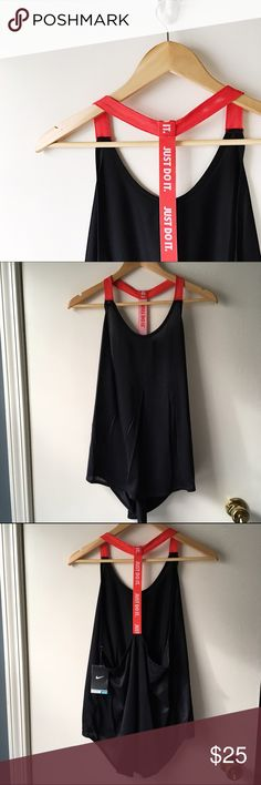 Nike Dri-Fit T-Back Tank Perfect for those ultra sweaty workouts!    No Trades/️️ ✨ 100% Authentic  Offers Welcome  Bundle Discount  Ships in 1-2 Days Nike Tops Tank Tops