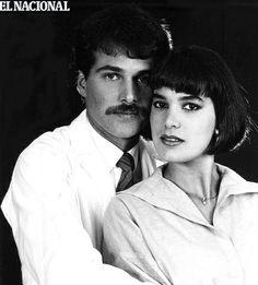 Ruddy Rodríguez con Luis José Santander en la telenovela Niña Bonita.