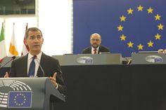 Don Felipe durante su intervención ante el Parlamento Europeo Estrasburgo, 07.10.2015 European Council, European Parliament, Strasbourg, Day Planners, Activities