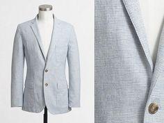 JCF Linen/Cotton Thompson Fit Sportcoat   Dappered.com
