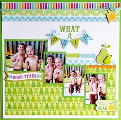 Doodlebug Design Inc Blog: Fruit Stand Collection Layout Inspiration#DoodlebugFruitStand
