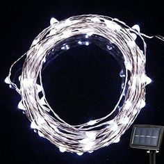 {New Version 150LED 72Feet} Solar Powered String Lights Starry Copper Wire Lights, Solar Fairy String Lights Ambiance Lighting for Outdoor, Gardens, Homes, Christmas Party-- 2 Modes (Steady on / Flash)  Solar powered, cost effective and energy efficient, get fully charged about 6-8hours under the strong sunlight; about 10 hours usage.