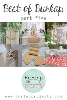 Best of Burlap Part Five  #DIYBurlap, #DIYBurlapProjects, #DIYBurlapHomeDecor