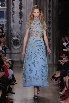 Giles's full-length dress glistening with Swarovski Elements. Photography by catwalking.com.