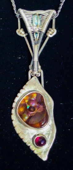 Fire Agate Pendant Garnet Pendant Fire by sustainablygrateful, $450.00