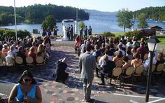 Outdoor Wedding at Dunham's Bay in Lake George, NY
