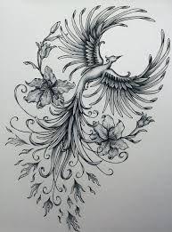 Phoenix original art example of jennifermckayhiggins - Tatoo. Rising Phoenix Tattoo, Phoenix Bird Tattoos, Phoenix Tattoo Design, Phoenix Tattoo For Men, Tribal Phoenix Tattoo, Tattoo Ave Fenix, Fenix Tattoos, Tattoo Drawings, Body Art Tattoos