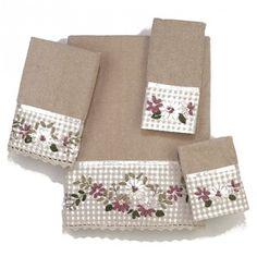 Victoria 4 Piece Towel Set Color: Linen