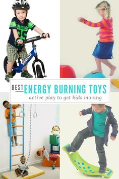 Favorite Indoor Active Toys - Let's bounce! Or climb or spin…anything to get in some physical activities if you've got active kids stuck indoors, right? Great ideas in this list for toddlers, preschoolers and big kids.