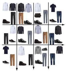 """15 Item Capsule Wardrobe (Men's Business Casual)"" by minimaliststylist on Polyvore featuring H&M, River Island, Tommy Hilfiger, Jack & Jones, MICHAEL Michael Kors, Clarks Originals, Polo Ralph Lauren, Alexander McQueen, Prada and Topman"