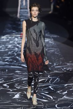 Missoni. Leggings as layering pieces were HUGE in Milan.